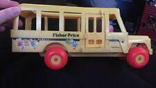 FISHER PRICE SCHOOL BUS Vintage Little People Vehicle 1984