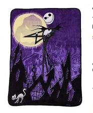 Nightmare Before Christmas Jack Skellington Halloween town Fleece Blanket Throw