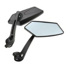 2pcs Rétroviseur Réflecteur pour Moto Quad Atv Scooter Noir Parfait