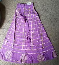 Ladies Ethnic Wear Long Cotton Casual Wrap Skirt, Purple