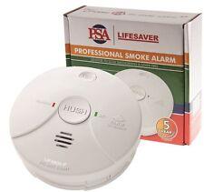 PSA Lif5800 Lifesaver 240v Photoelectric Smoke Alarm Detector With 9v Battery BU