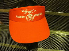 SHRINE CLUB of Piedmont SHRINERS Mens or Womens VISOR Hat Ball Cap RED NEW