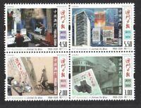 MACAU CHINA 2018 PUBLICATION OF MACAU DAILY NEWS 60TH ANNIV. BLOCK 4 STAMPS MINT
