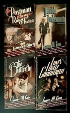 Lot of 4 James M. Cain Paperbacks / Postman, Double Indemnity, Butterfly, Love's