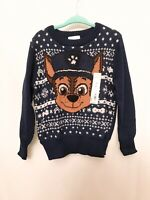 Toddler Boy Jumping Beans Paw Patrol Chase Holiday Knit Sweater 2t 3t 4t 5t