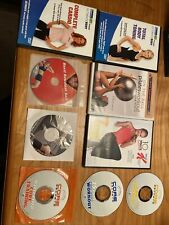 Huge Lot Of 9 Dvd Fitness Workout Pilates Cardio Body Special k Ball