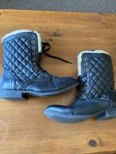 Ladies/womens Yoing Dimension Black Boots Size 5