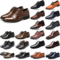 Men's Pointed Toe Lace-Up Dress Formal Wedding Party Office Work Business Shoes