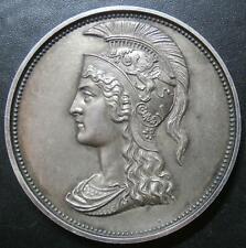 More details for silver medallion - prize for attendance - roman helmet boudicca boadicea ? 38mm