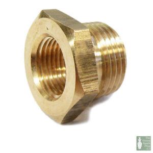 4x Spark Plug Thread Adaptors 18mm down to 14mm Brass (M14 & M18)