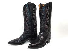 Nocona Alligator Black Cowboy Boots - Women's 6.5M Crocodile Excellent Condition