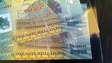 >> D/99 & D/00 << 50000 LL 2014 Polymer 2 BILLS in SLEEVES 50 years BDL Lebanon