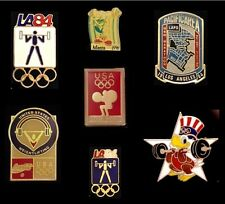 Weightlifting Olympic Pin Badge~Lot/Set of 7~Various Years~Coke~Sam~LAPD~L Rich