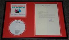 Bob Newhart Signed Framed 1968 Typed Letter & CD Display