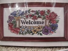 Welcome cross stitch kit + frame