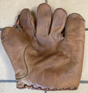 Vintage Diamond Split Finger Baseball Glove Model D3 Genuine Horsehide