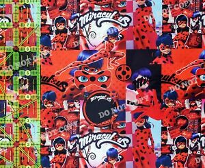 Custom 100% Cotton Woven Miraculous Ladybug TV Show by the 1/4 Yard SHIPS FAST!