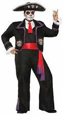 Men's Day Of The Dead Mariachi Macabre Plus Size Costume Adult Mexican XL