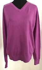 Jil Sander Uniqlo +J Women's Violet Cotton/Cashmere V-Neck Sweater, Size S NWOT