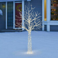 Indoor/Outdoor Christmas 7ft (2.13m) LED Fully  Twinkling Birch Twig garden Tree