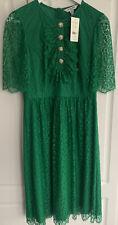 LK Bennett Lace Mallory Bow Tea Dress Fern Green Size 10 BNWT RRP £295