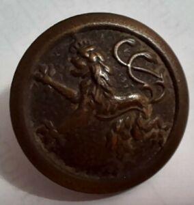Bouton ancien . Lion héraldique couronné. 1914/1918 .diamètre 22 mm