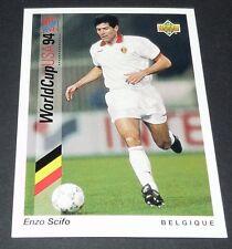 SCIFO BELGIË BELGIQUE DIABLES FOOTBALL CARD UPPER DECK USA 94 PANINI 1994 WM94