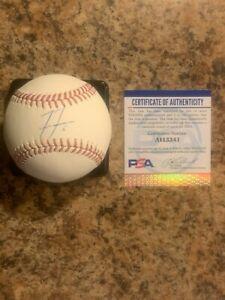 Freddie Freeman autographed/signed baseball Atlanta Braves PSA AI13341