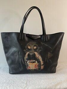 Authentic GIVENCHY ROTTWEILER ANTIGONA Large  Black  Tote Shoulder Bag