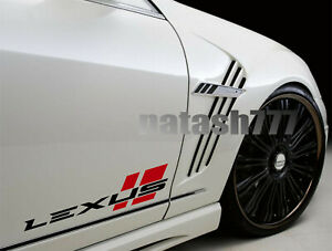 LEXUS Sport Performance Racing Car Vinyl Decal Sticker Emblem logo 2pcs Pair