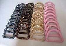"Lot of 40 Assorted Marble 3"" D Plastic Macrame Marbella Rings Craft Supplies DIY"