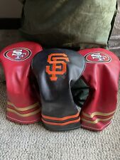 New! San Francisco Giants & 49ers Golf Head covers Lot by Team Golf