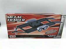 PKW TRAILER  / Auto Anhänger  - Metall   1:18 Motormax  >>NEW<<