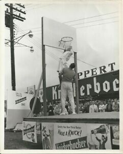1960 HOFer George Mikan Photograph at Eastern States Expo For Knickerbocker Beer