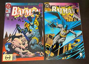 BATMAN #500 (DC 1993) -- Enhanced Die Cut Cover + Variant Edition -- Set of 2