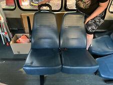 2008-2014 Ford E450 Shuttle Bus 2 Seats Freedman Seating Co Forward Facing Blue