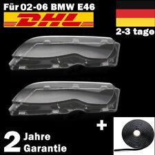 2x Scheinwerferglas Streuscheibe Satz Links Rechts Für BMW E46 02-06 FACELIFT DE