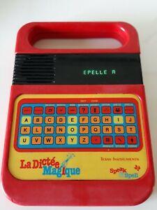 DICTÉE MAGIQUE TEXAS INSTRUMENT Vintage 1980 Speak and Spell Jeu Vintage