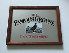 More details for famous grouse scotch whiskey vintage small rare pub mirror sign breweriana