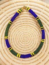 New African Maasai Beaded Choker Necklace Masai Massai ethnic tribal boho jnmr37