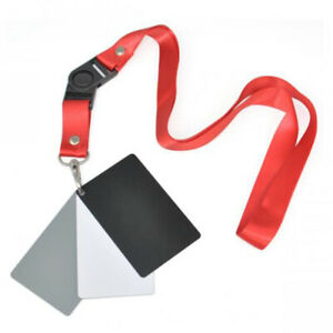 3in1 Digital 18% Gray/ White /Black Card Set Photography Exposure Balance Strap