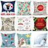 Fashion Merry Christmas Pillow Case Sofa Waist Throw Cushion Cover Friends Gifts