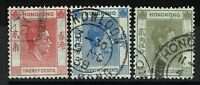 Hong Kong SG# 148a, 149 and 150, Used - Lot 020517