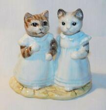 RARE 1989 Royal Albert Beatrix Potter Mittens and Moppet Figurine MINT