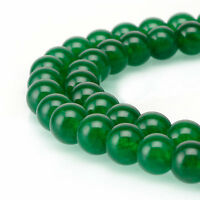"""Smooth Dyed Jade Round Beads 4/6/8/10mm 15.5"""" Per Strand in various colors"""