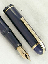"VINTAGE HTF ""NAVY BLUE"" 1940s EVERSHARP SKYLINE FOUNTAIN PEN ~ RESTORED!"
