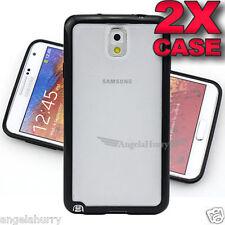 2x Black N9100 TPU Bumper Matte Hard Cover for Samsung Galaxy Note 4 Case