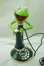 KERMIT THE FROG PHONE TELEPHONE CANDLESTICK KERMIE PUSH BUTTON MUPPETS WORKS