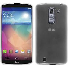 Coque en Silicone LG G Pro 2 - transparent blanc + films de protection
