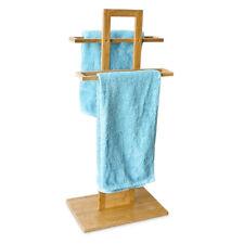 Handtuchhalter Herrendiener Handtuchstange Handtuchständer Bambus Kleiderständer